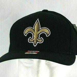 New Orleans Saints White/Black NFL Baseball Cap Fi